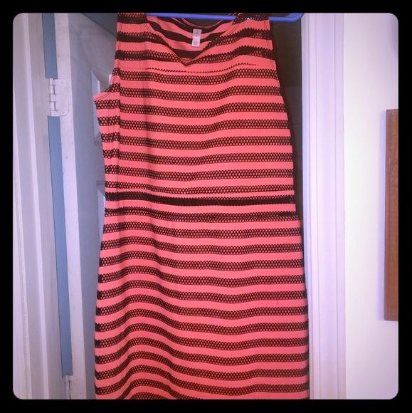 Xhilaration Dresses & Skirts - Orange/Black Dress